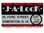 JA Lock Edmonton Motorcycle Dealer Decals Transfers DDQ106